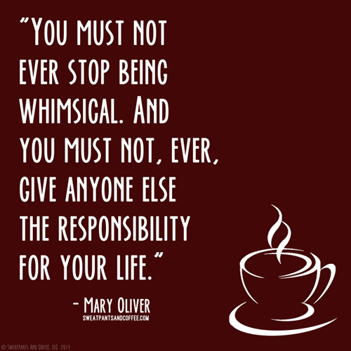Mary Oliver whimsical quote__