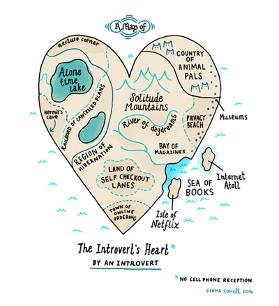 A Map of the Introvert's Heart by Gemma Correll_enlarged image