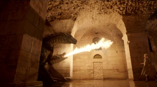Game Of Thrones s5e1 dragons