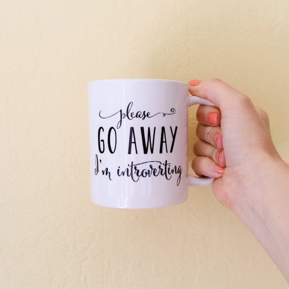 Please Go Away, I'm Introverting by Brittany Garner Design