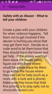 Purple Pocketbook App safety plan