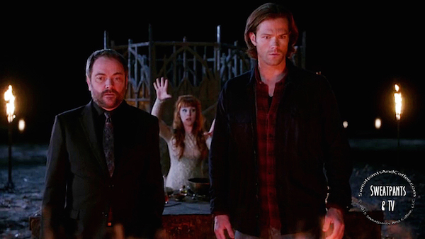 14 Supernatural SPN Season Eleven Episode Nine S11E9 O Brother Where Art Thou Mark Sheppard Ruth Connell Jared Padalecki Sam Winchester Crowley Rowena