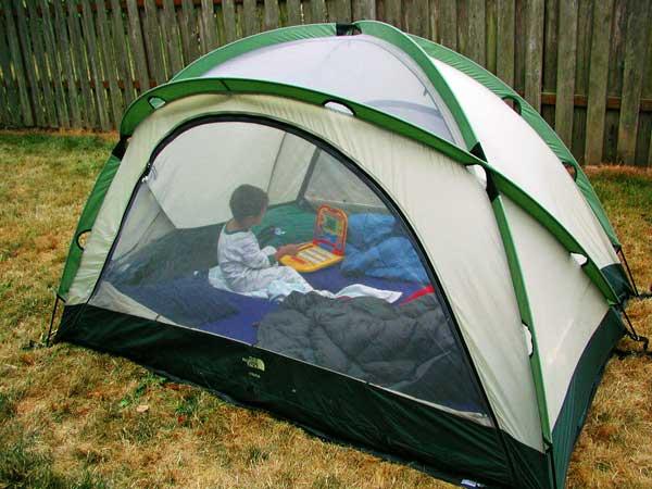 Backyard-camping-tent