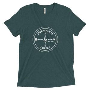 Sweatpants & Coffee Love Tee, white logo