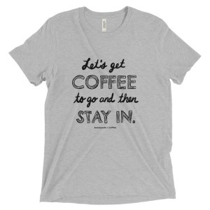 Introvert's Coffee To Go Short sleeve t-shirt, black text