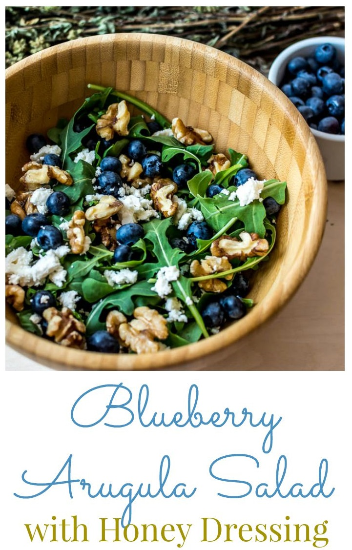 Blueberry Arugula Salad from Broccoli & Muffins