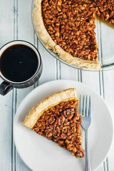 Maple Bourbon Walnut pie recipe