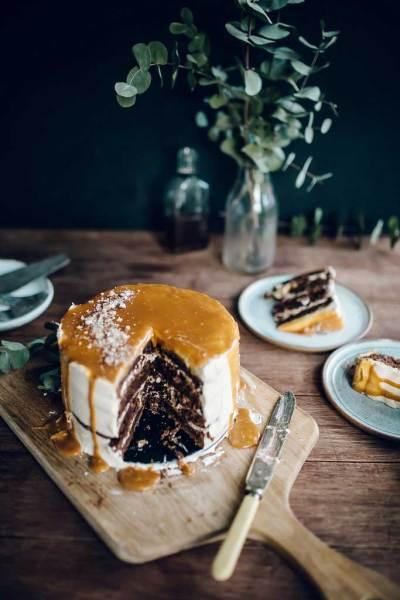 Caramel Apple Whisky Cake