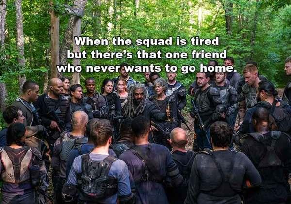 The Walking Dead TWD s8e2 The Damned Ezekiel Carol