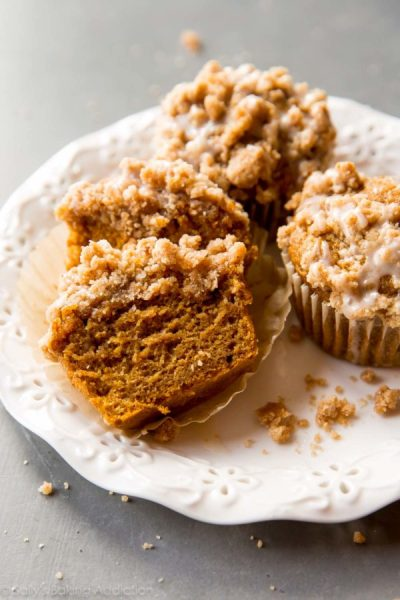 Pumpkin Crumb Cake Muffins from Sally's Baking Addiction