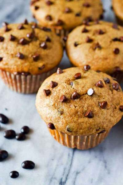 Cappuccino Chocolate Chip Muffins recipe by Just So Tasty