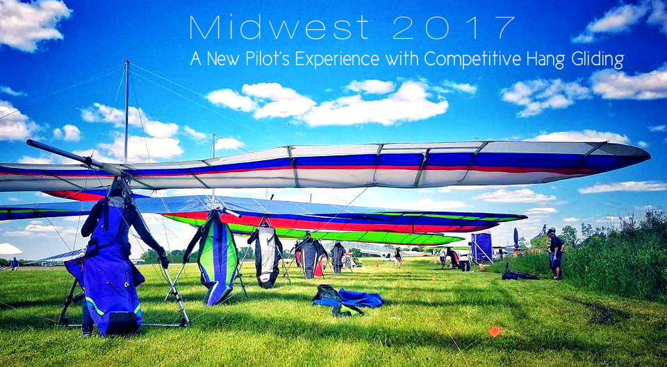 Launch Line Up at Midwest 2017, with Sara Weaver bringing up the back in her Wills Wing Sport2. Photo and Editing: Audray Luck, 2017.