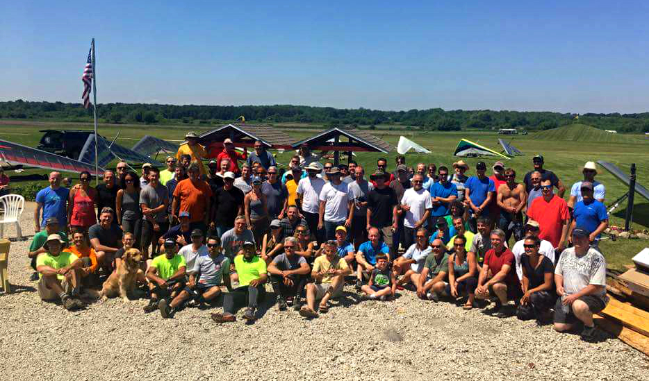 80 pilots made it to Midwest 2017, and countless others came to cheer us on, run retrieval, organize, and feed us. This has to be one of the best sport communities in the world! Photo: Unknown, posted to MW2017 Facebook page, 2017.