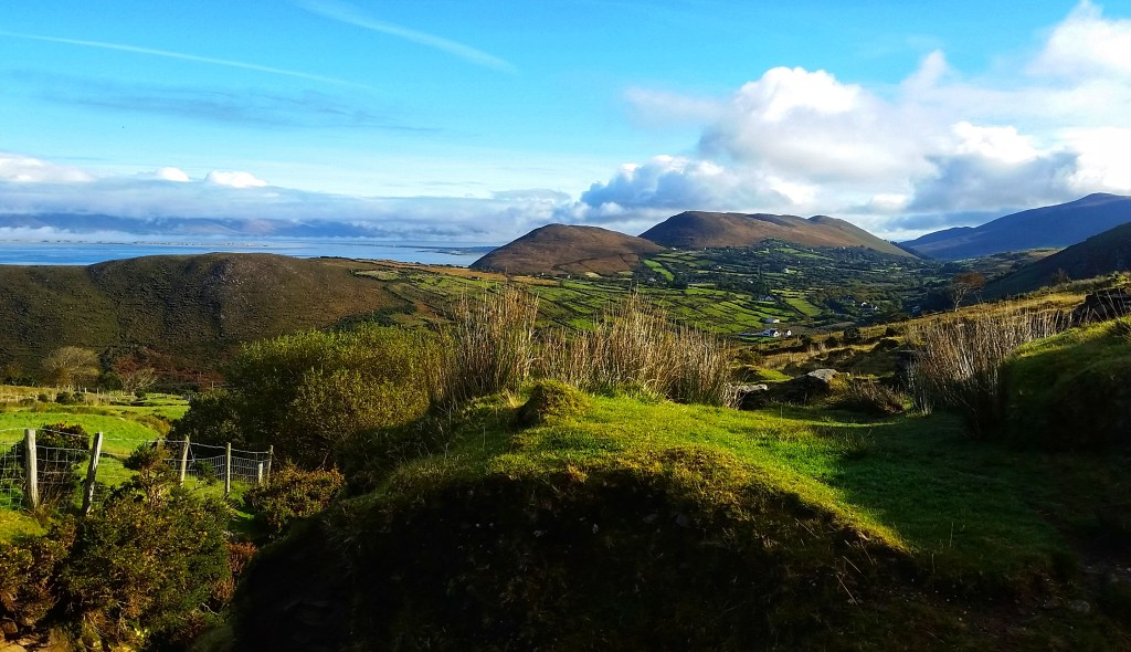 Before ascending to one of the more treacherous sections of the Kerry Way, I turned back and took in this amazing panorama of Mountain Stage, the Dingle Bay and the Dingle Peninsula after leaving Glenbeigh. Such perfect weather for a long day on the trail. Photo: Sara Weaver, Oct. 2017.