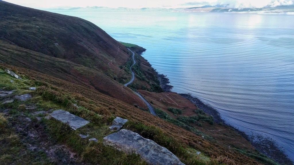 This was one of my favorite sections of the Kerry Way, skirting a steep cliffside overlooking the Dingle Bay between Glenbeigh and Cahersiveen. Would not want to trip here... Photo: Sara Weaver, Oct. 2017.