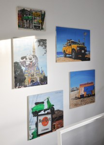 Acrylic paintings on the wall