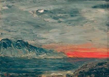 August Strindberg, Sunset