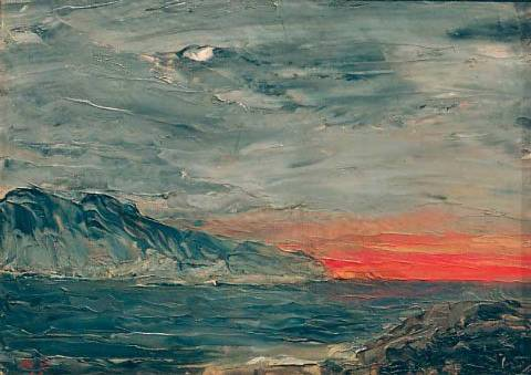 August Strindberg, Sunset