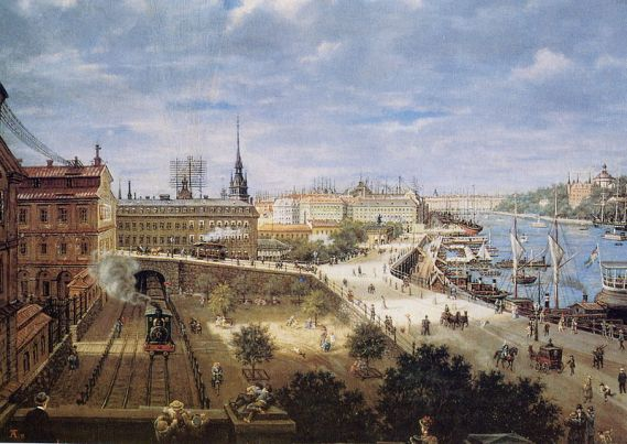 Carl August Tholander, View over Slussen (1898)