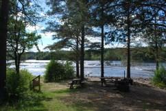 Vindeln River seating area