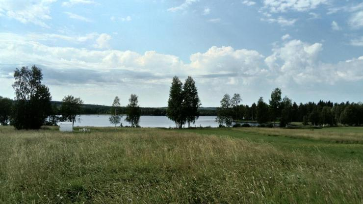 Your lakeside setting while staying with sweden fishing and birding