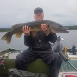 Vindeln Umea Vasterbotten Sweden pike fishing with swedenfishingandbirding