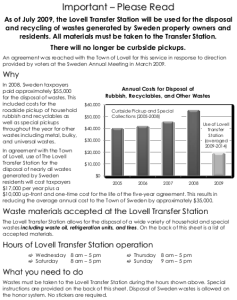 Waste Disposal Flyer