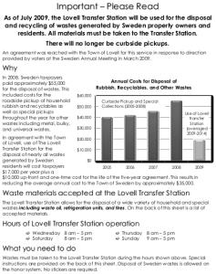 Waste Disposal Flyer