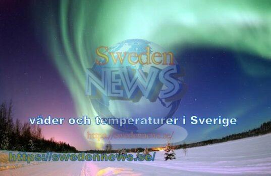 väder och temperaturer i Sverige idag 2019/ 04/03