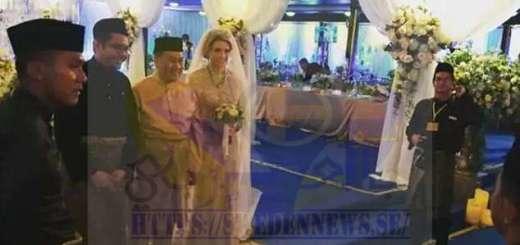 ولي عهد ماليزيا مع ملكة جمال السويد - صور من حفل الزفاف الاسطوري