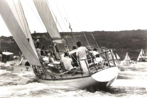 Fidelis winning the Sydney-Hobart Race in 1966 © Rolex Sydney Hobart Yacht Race