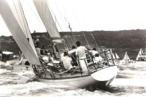 Fidelis winning the Sydney-Hobart Race in 1966 © Rolex Sydney Hobart Yacht Race