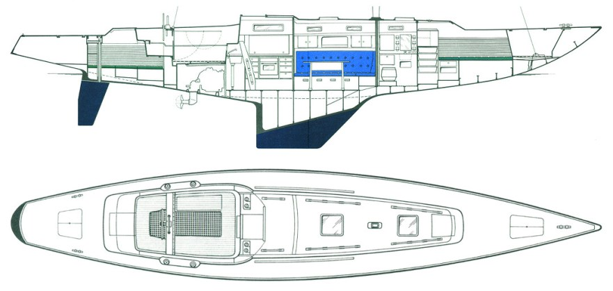 Swede 55 cabins extend over 39' © Swedesail