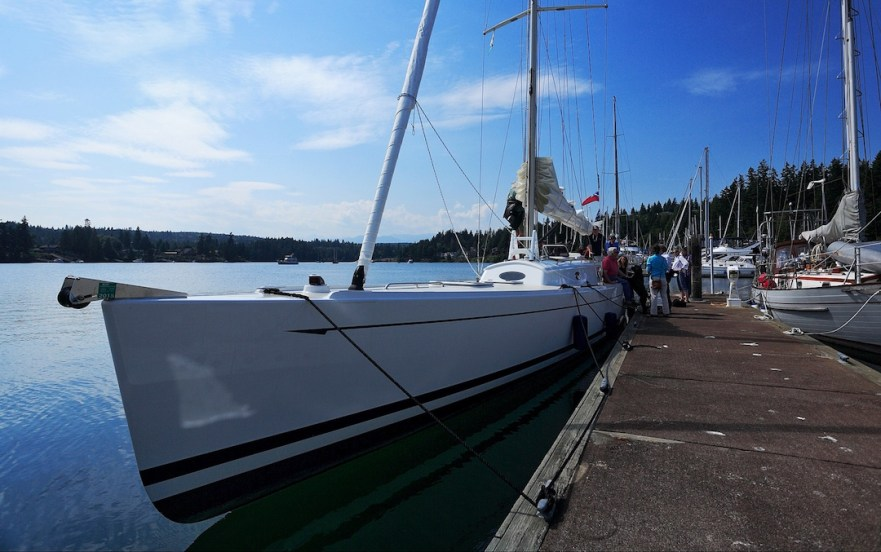 Das 19 m Segelkanu Francis Lee in Puget Sound/Seattle © Boomer Depp
