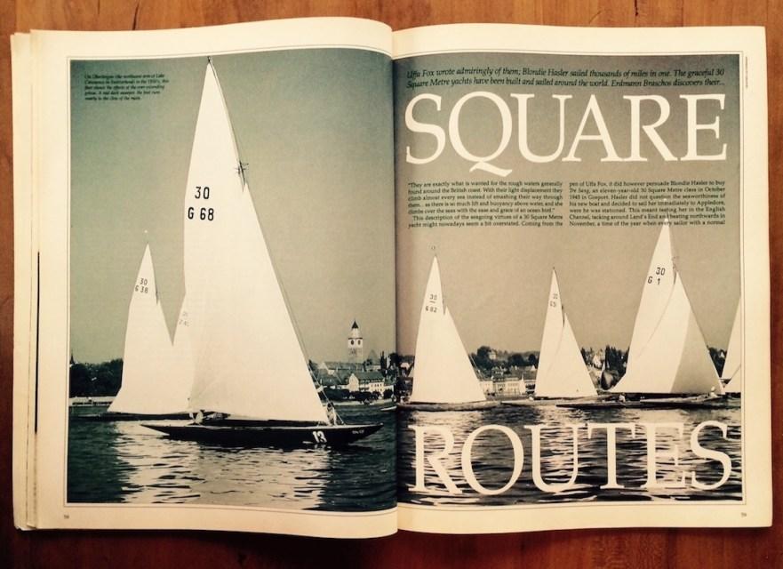 Article by Erdmann Braschos featuring the British Square Metre Boat Scene