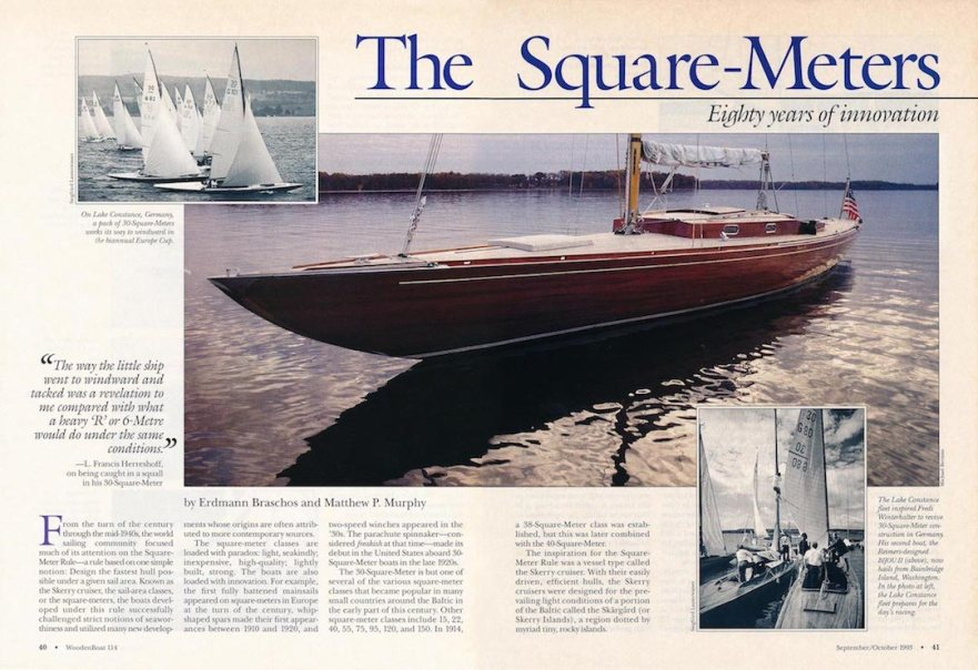 Wooden Boat article 1993, circulation 102,000 © Wooden Boat/Braschos