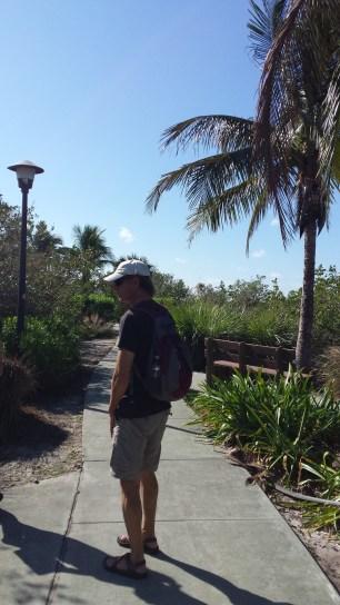 Walking around Riverside Park.