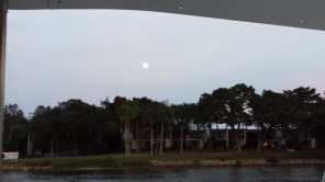 The moon rising over our anchorage.
