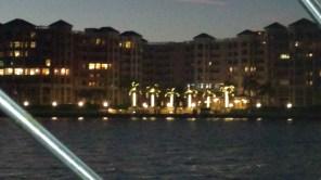 Glittering lights along the west side of Lake Boca.