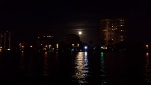 Lake Boca Raton. If it all weren't enough, a full moon rose that night to cap the atmosphere.