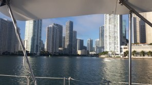 Concrete canyons in Miami.