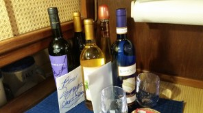 """We received several bottles of wine, all of which we enjoyed on our trip south, except one, which came with specific instructions to only be opened """"at the worst possible moment."""" Well, we haven't opened it yet, maybe we never will!"""