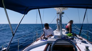 Typical snorkeling charter out to Molasses Reef.