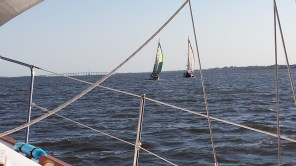 We had sailing companions going our way.