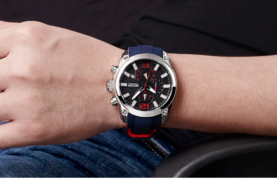 Blue And Red Watch 2