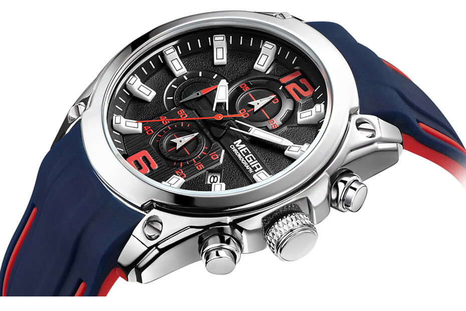 Blue And Red Watch 1