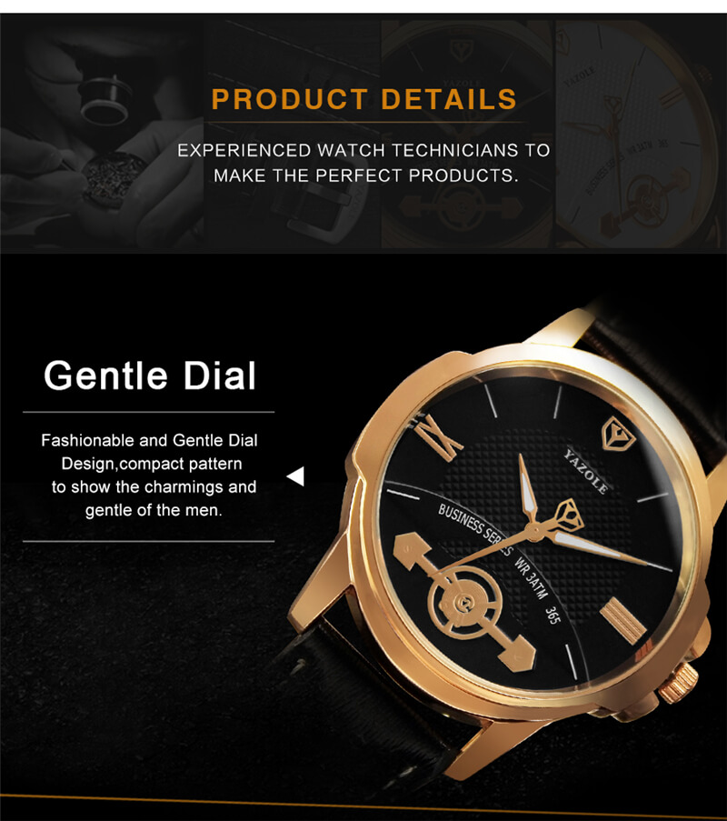 Classic Leather Strap Watch 3