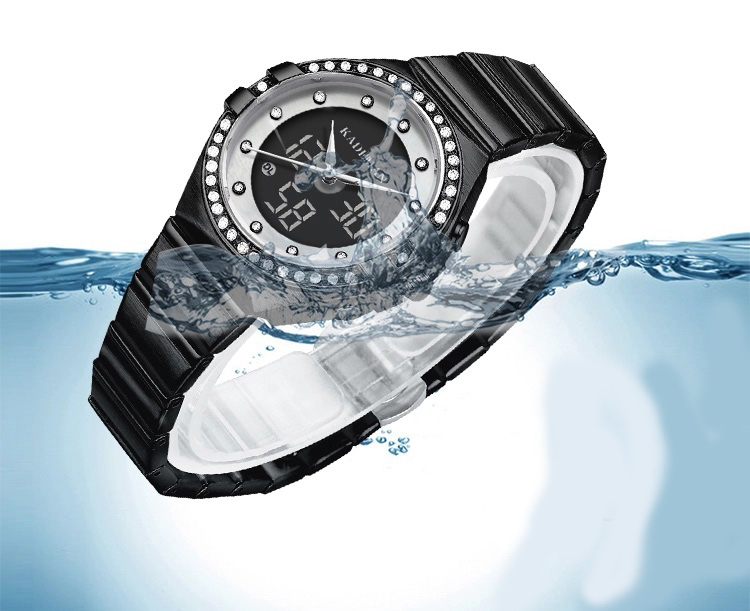 Analog Watch With Digital Display For Lady 7