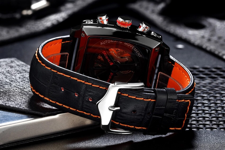 Automatic Watch Leather Strap 3