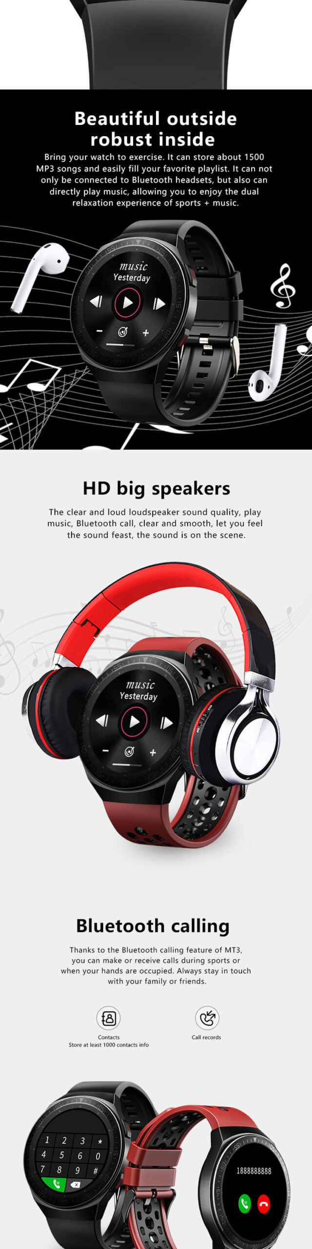 Smartwatch With Mic And Speaker 20